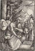 Beham, Hans Sebald: Der heilige Hieronymus kniend