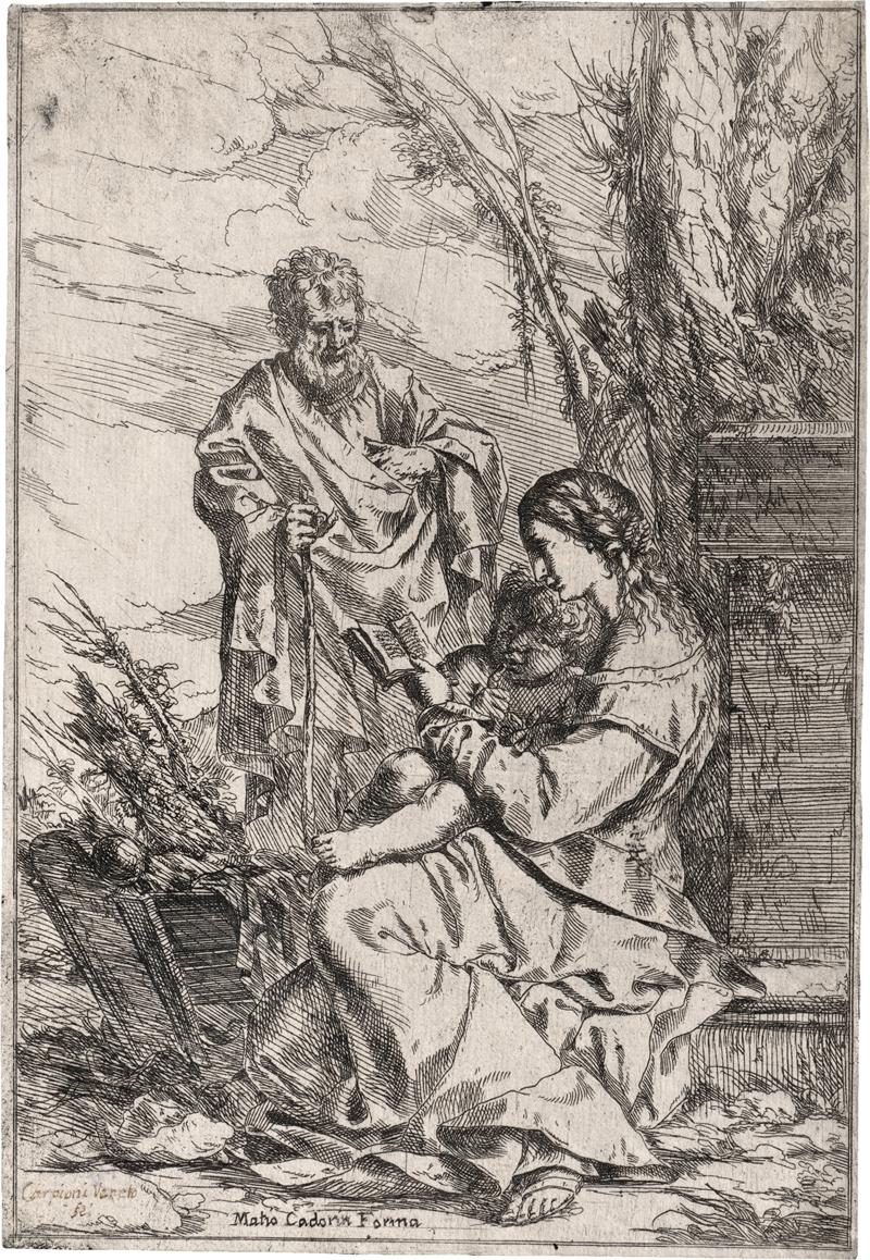 Carpioni, Giulio: Die Heilige Familie mit der lesenden Jungfrau