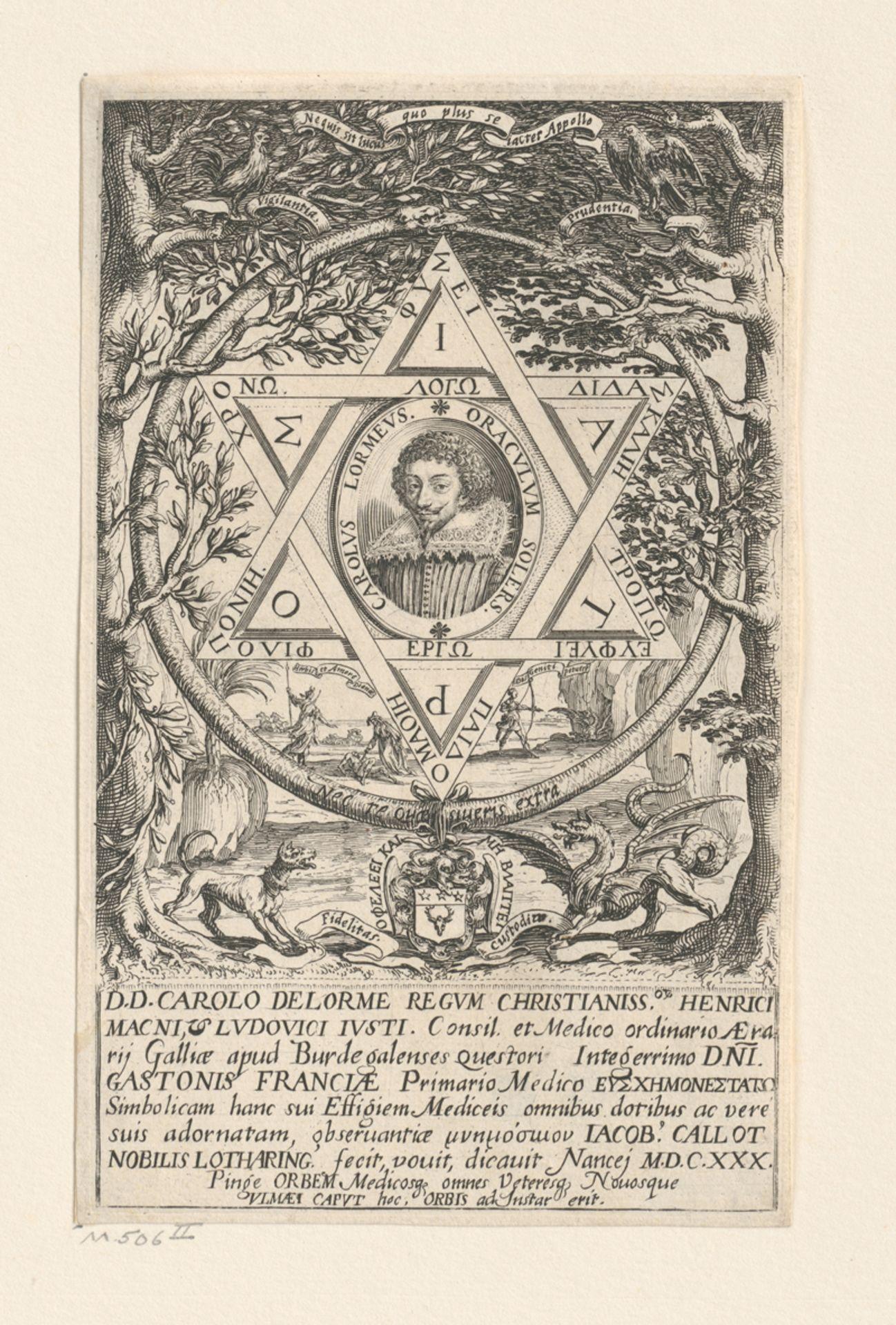 Callot, Jacques: Portrait de Charles Delorme - Image 2 of 2