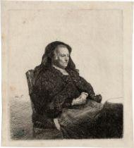 Rembrandt Harmensz. van Rijn: Rembrandts Mutter mit schwarzem Schleier