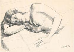 Albert, Hermann: Schlafender weiblicher Akt