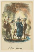 ARDIZZONE, Edward : ( 1900-1979 ) ' After Hours ' colour lithograph, f & g, circa 1949.