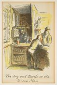 ARDIZZONE, Edward : ( 1900-1979 ) ' The Jug and Bottle at the Green Man' colour lithograph, f & g,