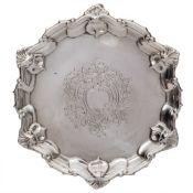 An Edward VII silver waiter, maker William Hutton & Sons Ltd, London,