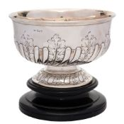 A George V silver rose bowl, maker Mappin & Webb, Sheffield, 1911: of circular outline,