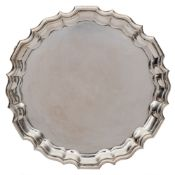 An Edwardian silver waiter, maker Thomas Bradbury & Sons, London,