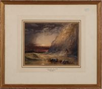 Charles Bentley [1806-1854]- Saved from the storm,:- signed bottom left watercolour and bodycolour,