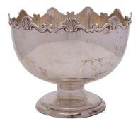 A George V silver punch bowl, maker William Henry Sparrow, Birmingham,