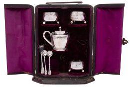 Three Victorian silver salts, maker Henry Wilkinson & Co, Sheffield,