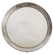 A George III silver waiter, maker John Crouch I, London,