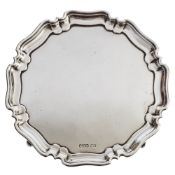 An Edwardian silver salver, maker Atkin Brothers, Sheffield, 1905: inscribed to the underside,