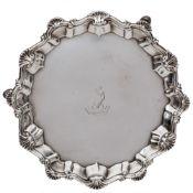 A George III silver waiter, maker R.