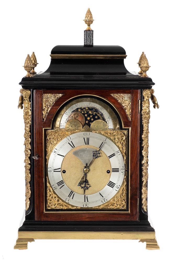 George Danson, London a chiming moonphase bracket clock: the eight-day duration,