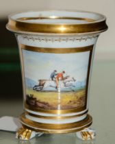An early 19th Century, (probably Worcester) match pot:,