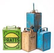 Two Valour paraffin cans: a Valour 'Esso Blue' paraffin can and a Pratts petrol can (repainted) (4)