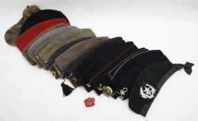 A collection of foreign forage caps and berets: (a lot)