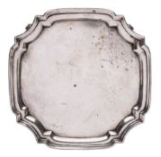 A George V silver salver, maker Harrison Brothers & Howson, Sheffield,