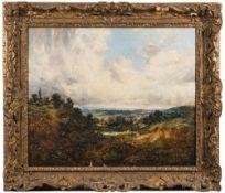 Manner of John Constable [19th Century]- An extensive heathland scene,