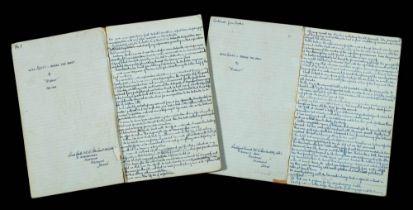 Handwritten manuscript 'With Scott Before the Mast' by F E C Davies under the pseudonym 'Rudolf':