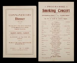 A programme card for the 'Complimentary Dinner to the Members of the Crew of the Terra Nova and The