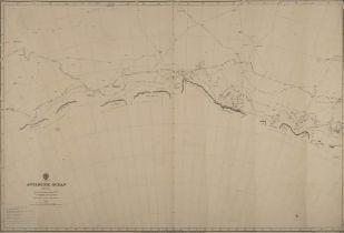 Two linen backed unused charts 'Antarctic Ocean' Sheet III and Sheet IV,
