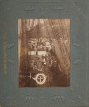 A mounted photograph of visitors aboard RYS Terra Nova:,