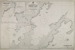 An Admiralty published chart 'New Zealand South Island-North Coast Admiralty Bay and current basin'