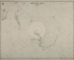 An Admiralty published chart 'South Polar Chart':, circa 1914, 69cm. x 100cm.
