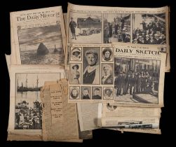 A collection of newspaper cuttings relating to the British Antarctic Expedition 1910,