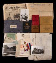 A collection of miscellaneous ephemera relating to F E C Davies:,