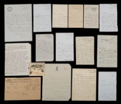 A group of nine letters from Harry Pennell and family members circa 1910 to FEC Davies:,
