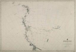 An Admiralty published chart 'Antarctic Ocean Sheet VIII':, 69cm. x 100cm.