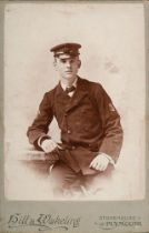 A Carte de Visite three quarter length portrait photograph of Peter Davies (son of F E Davies) in