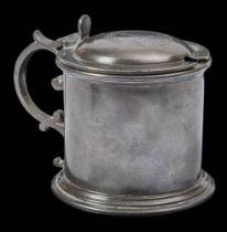 A pewter lidded drum mustard pot from RYS ' Terra Nova' British Antarctic Expedition 1910 by Walker