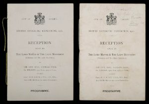 Two programmes for the 'City of Cardiff British Antarctic Expedition,