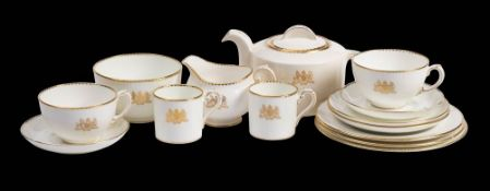 A British Embassy part tea service reputedly presented by the Governor of Bermuda: comprising