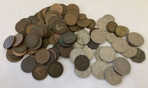 A small collection of vintage British coins; sovereign heads of Victoria, George V, VI & Elizabeth.