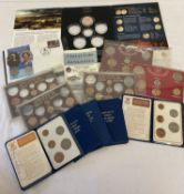A quantity of collectable coin sets to include Britain's first decimal coins.