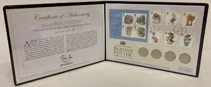 2017 Westminster Collection Beatrix Potter stamp and coin cover, limited to 750 pieces.