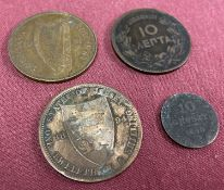 A collection of 4 18th and 19th century foreign coins.