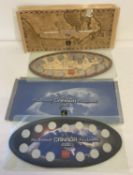 2 Royal Canadian Mint Millennium 25 cent sets in original board mounts.