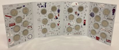 A Great British Coin Hunt card folder containing a full set of 2018 A-Z 10p coins.