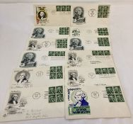 A collection of 12 American first day covers depicting George Washington, all dating from 1954.