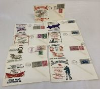 "9 x 1963 American first day covers from the ""Civil War Centennial""."