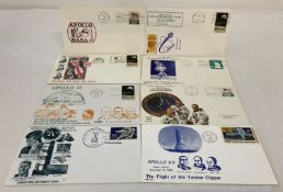 A collection of 8 American first day covers relating to Apollo space landings.