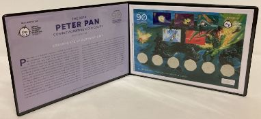 2019 Westminster Collection Peter Pan Commemorative coin and stamp cover, limited to 750 pieces.