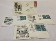 "3 x American 1960 first day covers ""Palace of the Governors"" post marks for Santa Fe, June 17th."