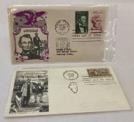 2 x American first day covers. Depicting Lincoln and 100th Anniversary of Lincoln-Douglas Debates.