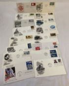 A collection of 16 American first day covers from 1950's - 1980's.