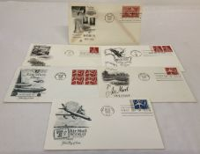 6 x American first day covers from the 1950's and 60's.